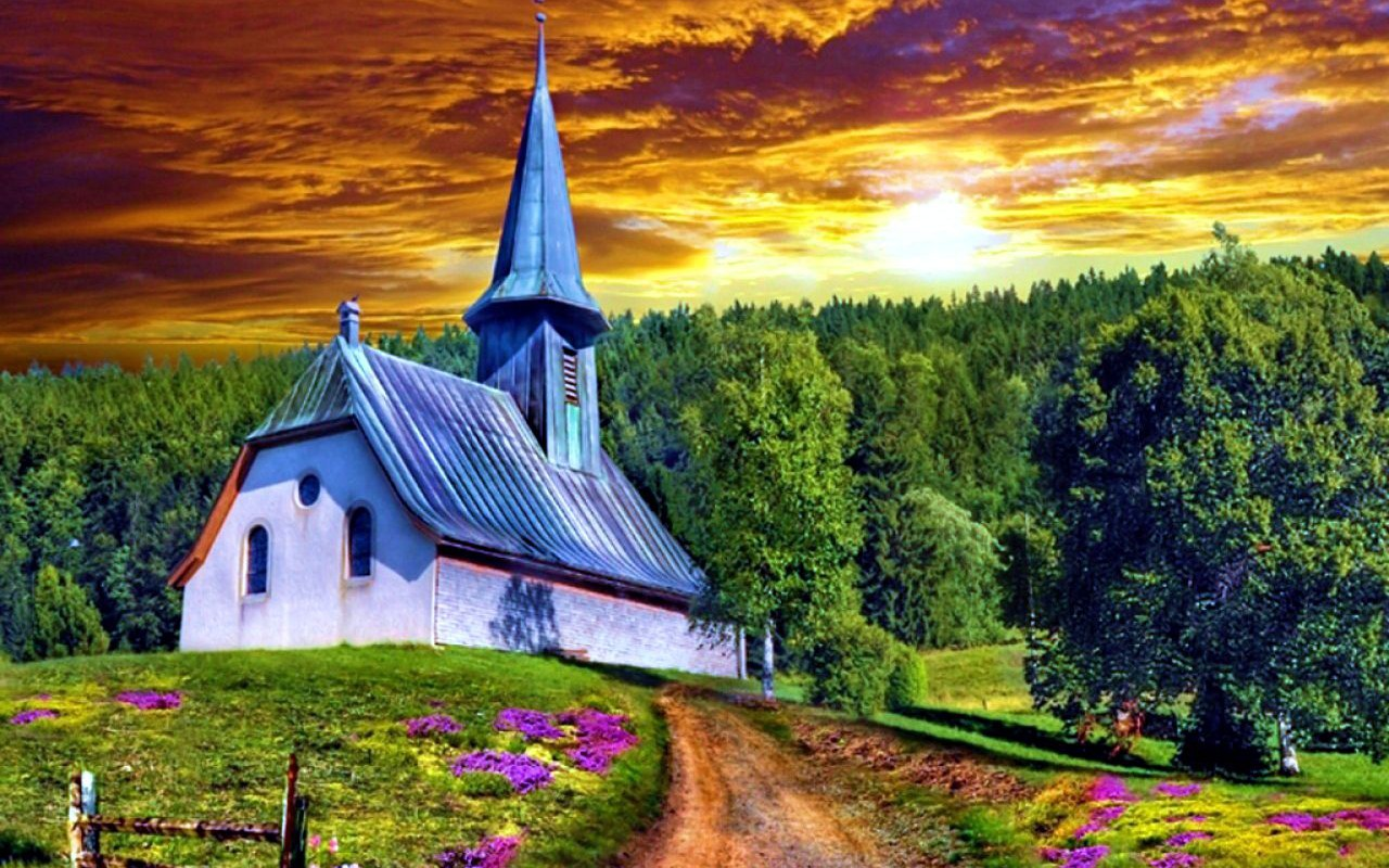 religious-amazing-sky-forest-sunset-clouds-reflections-church-path-sun-4474-hd-background-1280x800